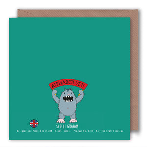 I is for The Iron Stove - Alphabet Greeting Card