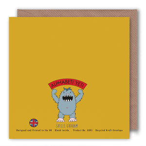 K is for Knights of the Fish - Alphabet Greeting Card