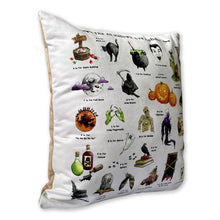 Load image into Gallery viewer, side view of the halloween alphabet cushion