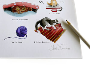 The Cat's Alphabet Art Print
