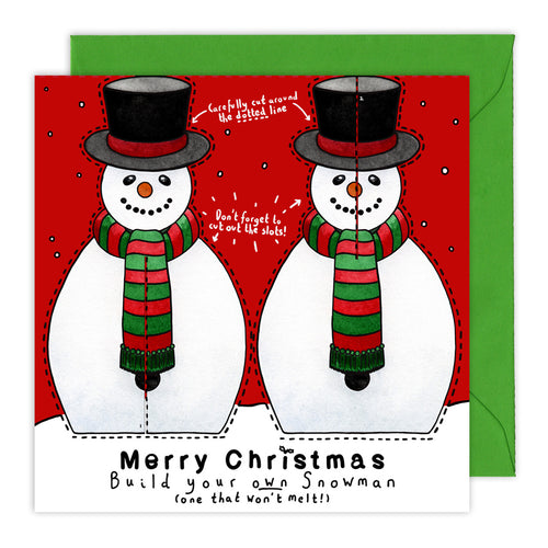 make your own snowman christmas card for children