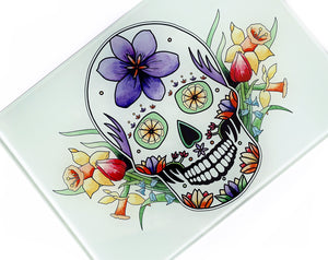 pastel goth sugar skull kitchen decor