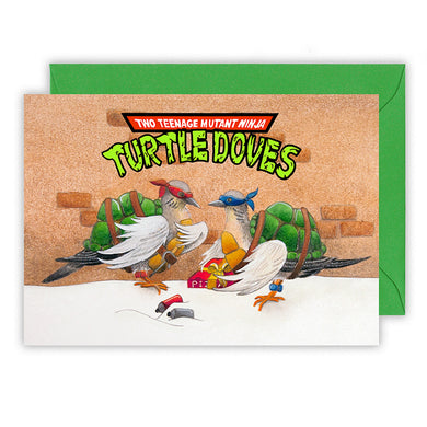 teenage mutant ninja turtle doves funny christmas card