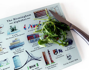 tempered glass birmingham chopping board birmingham foodie gift idea