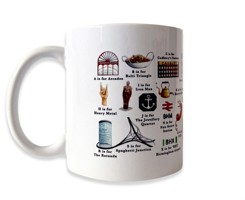the birmingham alphabet mug gift idea for him