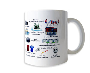 the birmingham alphabet mug gift idea for a birmingham doctor or nurse