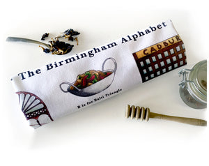 Birmingham Alphabet Tea Towel