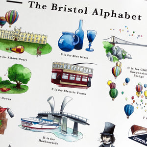 the bristol alphabet poster, gift for couples