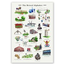 Load image into Gallery viewer, the bristol alphabet signed art print retirement gift for women