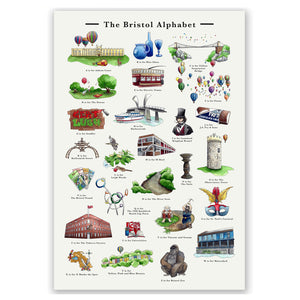 the bristol alphabet signed art print retirement gift for women
