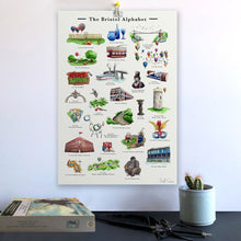 Load image into Gallery viewer, the bristol alphabet wall art alphabet learning chart