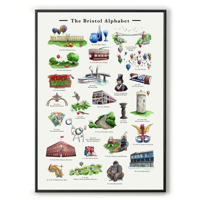 the bristol alphabet a3 wall art for ikea frame, housewarming gift