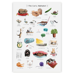 cat gift for cat lovers cat poster