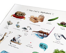Load image into Gallery viewer, the cats alphabet art print gift idea
