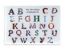 Load image into Gallery viewer, the christmas alphabet tempered glass cutting board