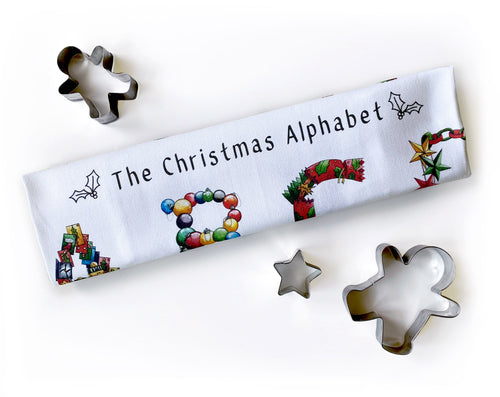 the christmas alphabet tea towel gift idea for her