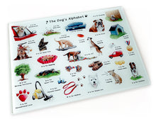 Load image into Gallery viewer, gift idea for her, the dogs alphabet chopping board