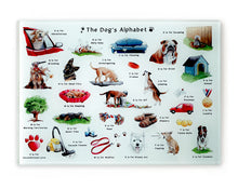 Load image into Gallery viewer, the dogs alphabet cutting board a great gift idea for a dog lover