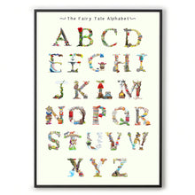 Load image into Gallery viewer, abc wall art fairy tale inspired alphabet print