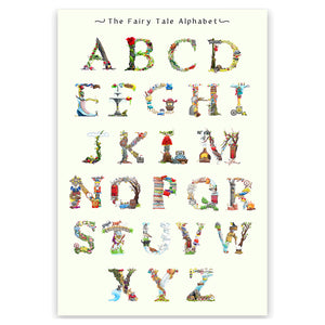 illustrated alphabet wall art