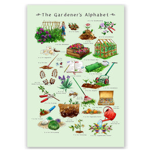 Gardening gift idea for him The Gardners Alphabet