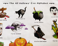 Load image into Gallery viewer, The All Hallows' Eve Alphabet Tea Towel