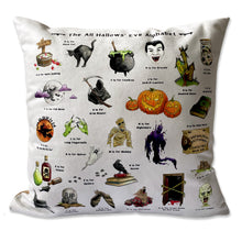 Load image into Gallery viewer, the halloween alphabet cushion gothic home decor
