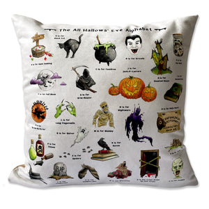 the halloween alphabet cushion gothic home decor