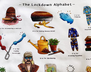 The Lockdown Alphabet Tea Towel