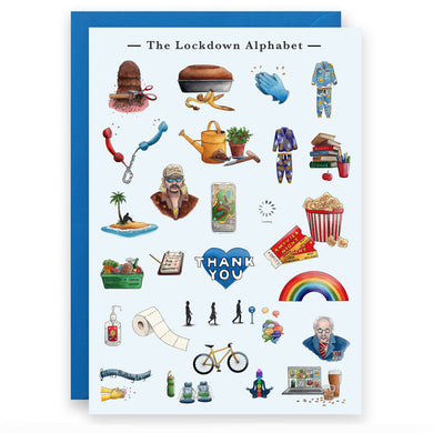 the lockdown alphabet  birthday card for him
