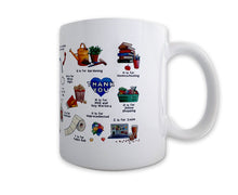 Load image into Gallery viewer, the lockdown alphabet thank you NHS mug
