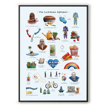 Load image into Gallery viewer, the lockdown alphabet print living room wall art covid 19