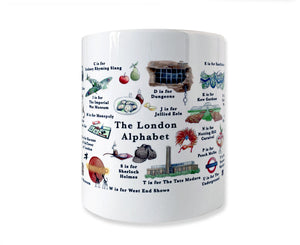 Cities in the UK Alphabet Mugs - 3 Designs