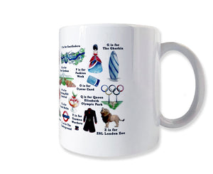 the london alphabet mug gift idea for office employee