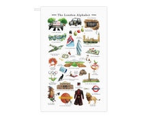 Load image into Gallery viewer, The London Alphabet Tea Towel
