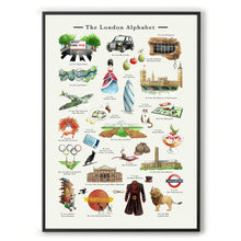 Load image into Gallery viewer, the london alphabet art print new home gift
