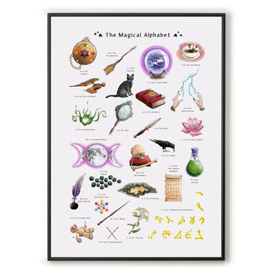 the magical alphabet print for a3 frame