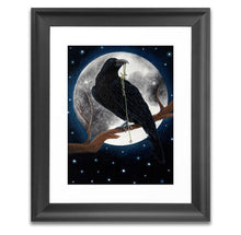 Load image into Gallery viewer, the raven gothic home decor art print