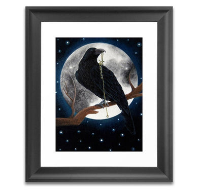 the raven gothic home decor art print