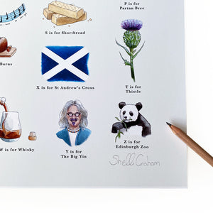 signed art print the big yin Billy Connolly Artwork