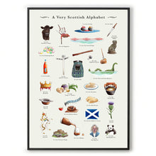 Load image into Gallery viewer, a very Scottish alphabet Scottish art work