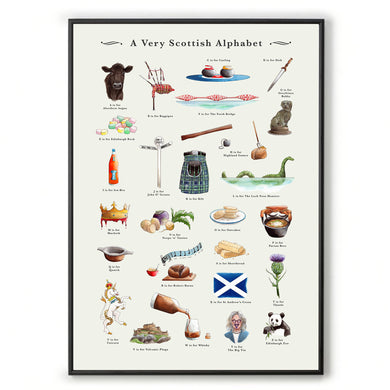 a very Scottish alphabet Scottish art work
