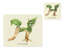 Load image into Gallery viewer, fruit and vegetable alphabet placemat and matching coaster letter h