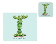 Load image into Gallery viewer, fruit and vegetable alphabet placemat and matching coaster letter i