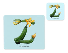 Load image into Gallery viewer, fruit and vegetable alphabet placemat and matching coaster letter z