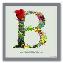 Load image into Gallery viewer, wall art alphabet letter b
