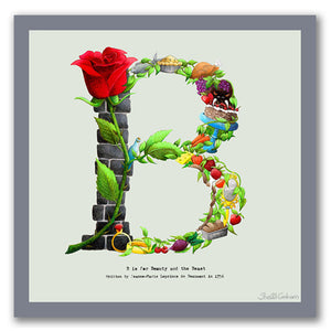wall art alphabet letter b