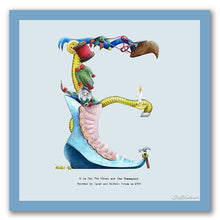 Load image into Gallery viewer, wall art alphabet letter e