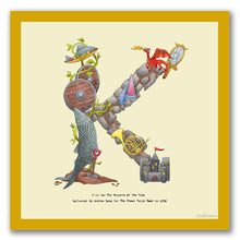 Load image into Gallery viewer, wall art alphabet letter k