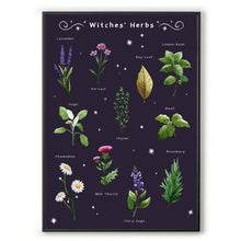 Load image into Gallery viewer, witches herbs gothic home decor for her. Witchcraft wall art
